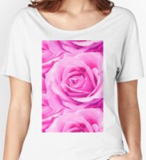 Pink Roses Women's Relaxed Fit T-Shirt
