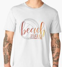 Funny beach quote volleyball Men's Premium T-Shirt