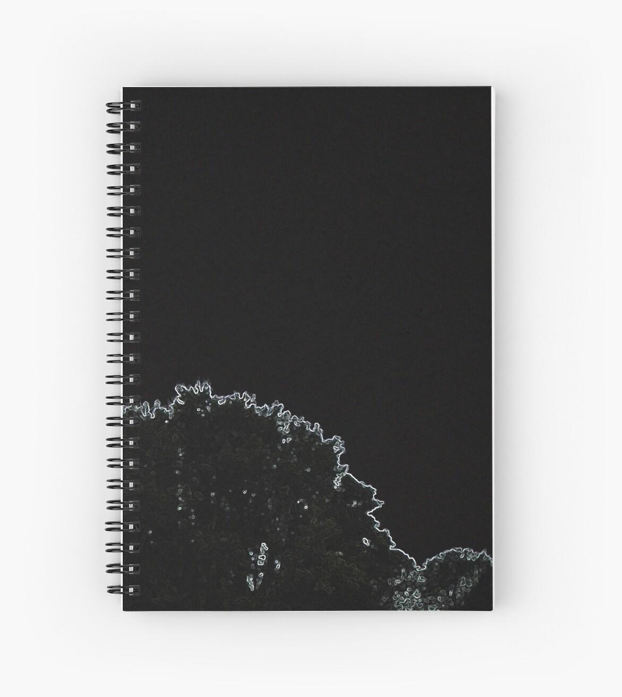 Lit Outline of tree landscape by TabithaFox