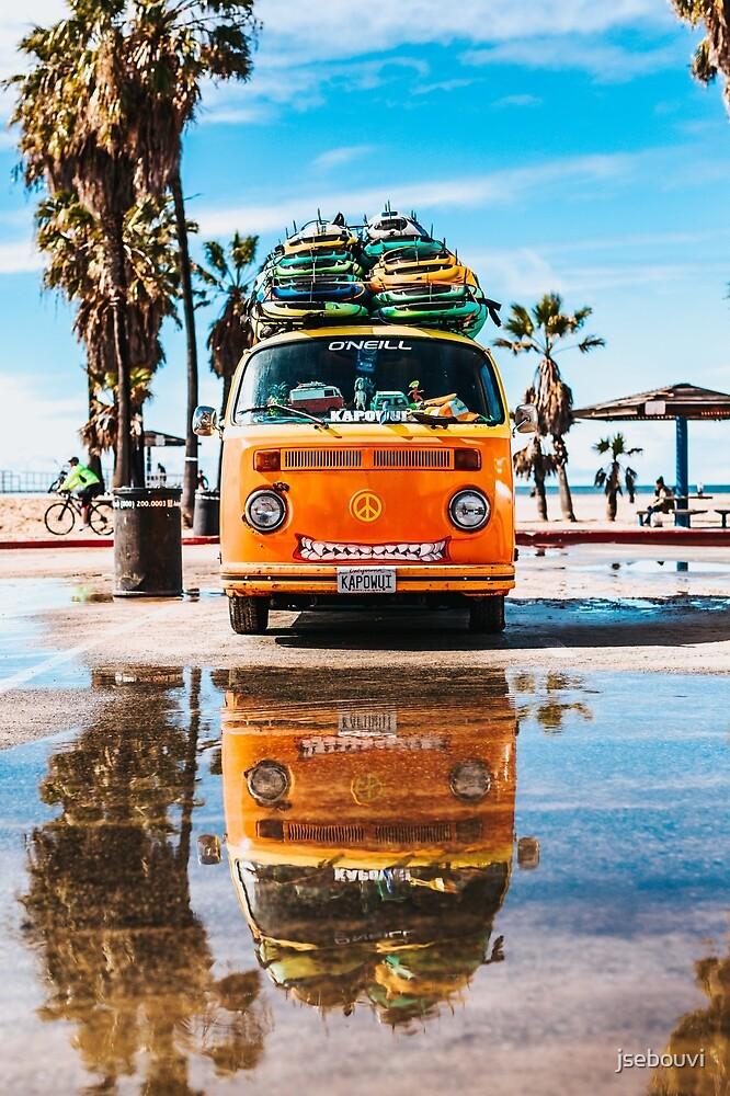 Camper Beach California Surf by jsebouvi