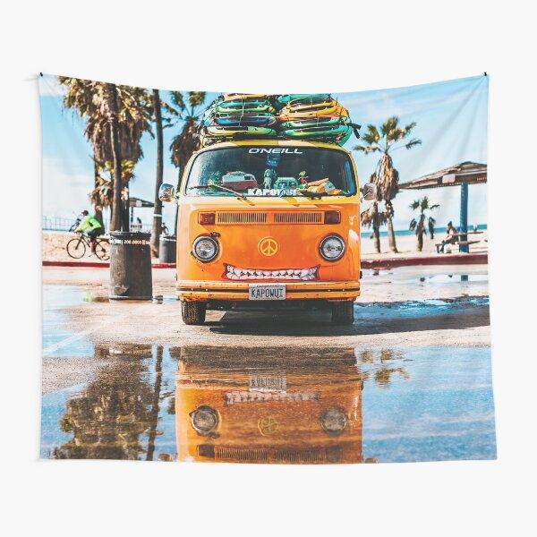 Camper Beach California Surf Tapestry