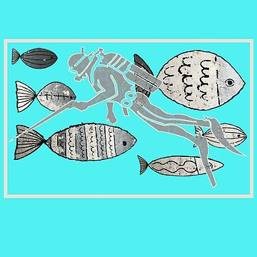 Scuba Diver Instructor Blue Oceans Beach T-Shirt by Picart13