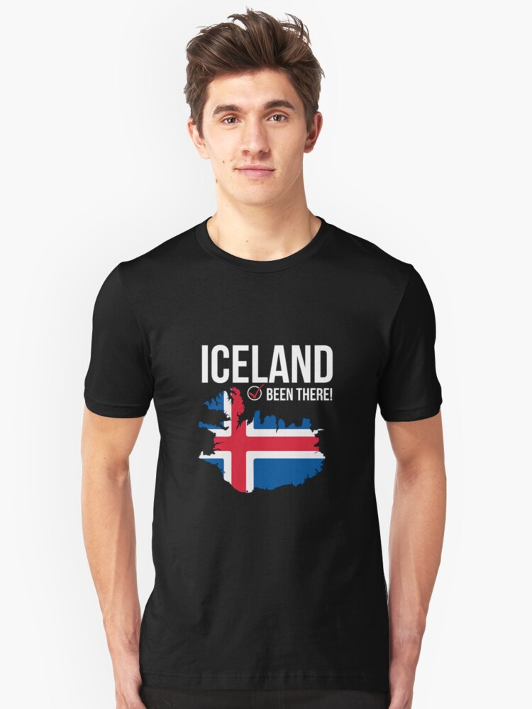 Iceland TShirt with Flag - I've Been There Map Unisex T-Shirt Front