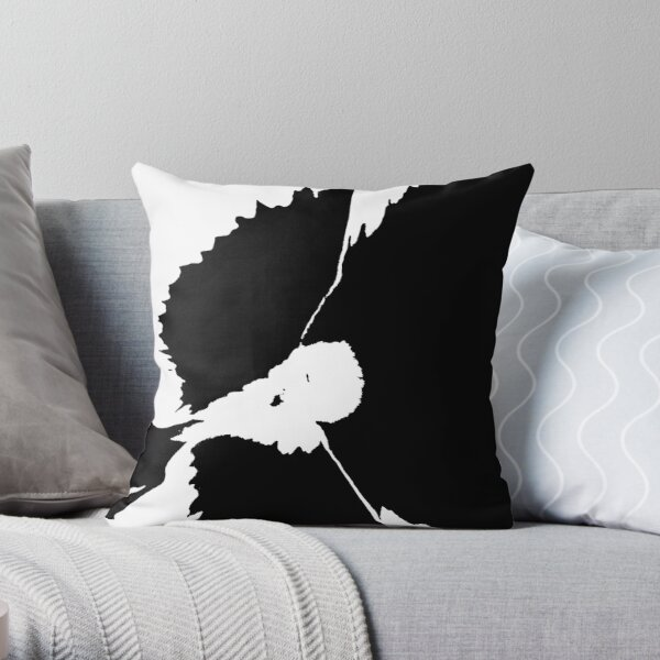 pansy silhouette Throw Pillow