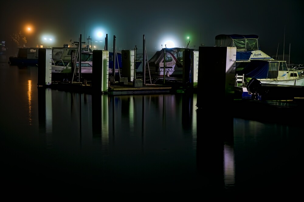 Night time at a Marina by Jason Ruth