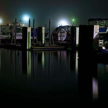 Night time at a Marina by scatrdjason