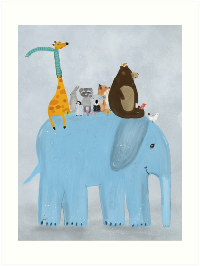 the big blue elephant by bri-b