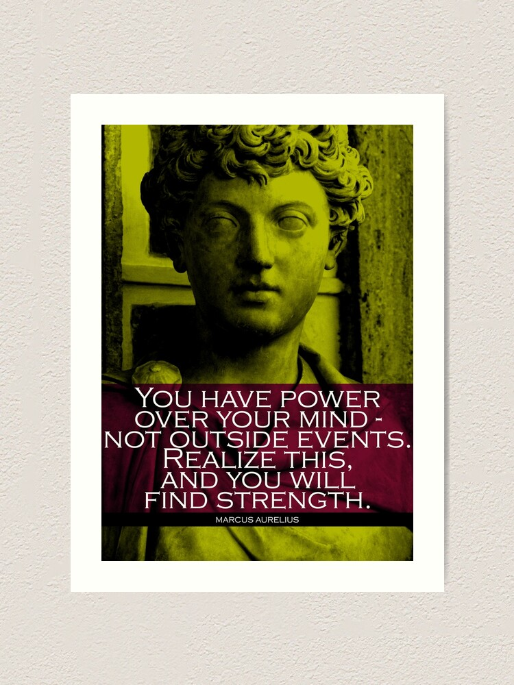 Alternate view of Marcus Aurelius Quote 3 Art Print