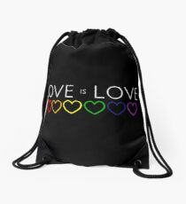 Love is Love LGBT Gay Pride Drawstring Bag