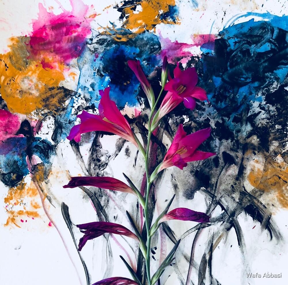 Pink flower by wafaabbasiart