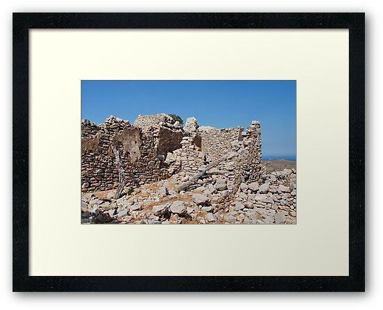Crusader Knights castle, Tilos by David Fowler