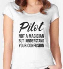 Pilot Not A Magician Women's Fitted Scoop T-Shirt