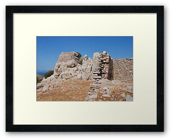 Ruined castle, Tilos island by David Fowler