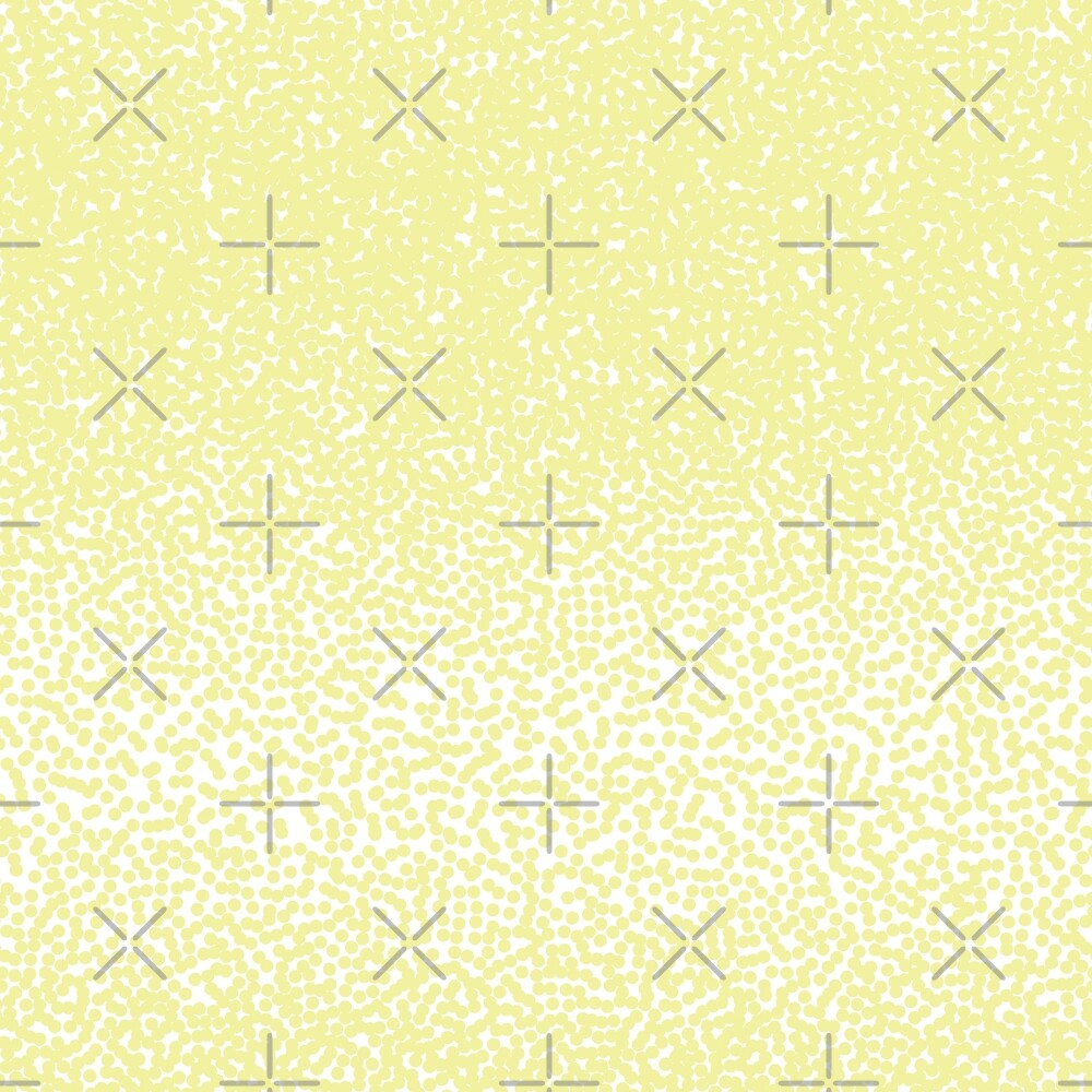 Halftone dots pattern. Yellow dots on white background. by asnia