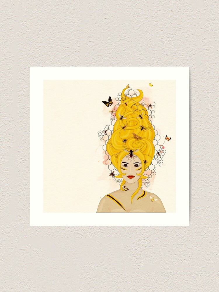 Alternate view of Rococo: The Queen Bee Art Print