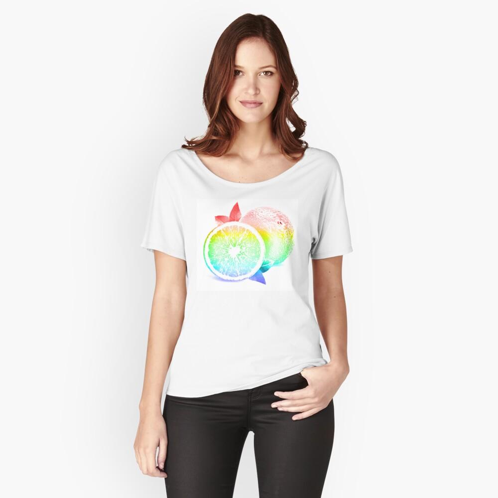 Fruit Pattern / Orange Burst Women's Relaxed Fit T-Shirt Front
