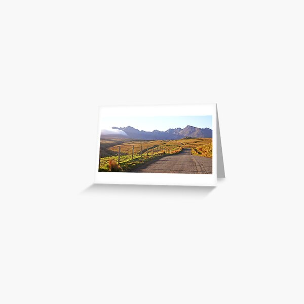 The Road to the Cuillin, Skye Greeting Card