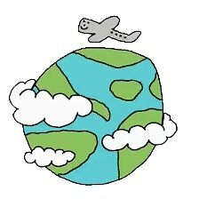 planet and airplane by stickersnstuff