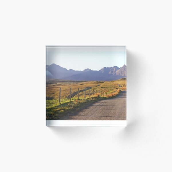 The Road to the Cuillin, Skye Acrylic Block
