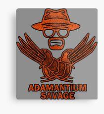 Adamantium Savage Metal Print