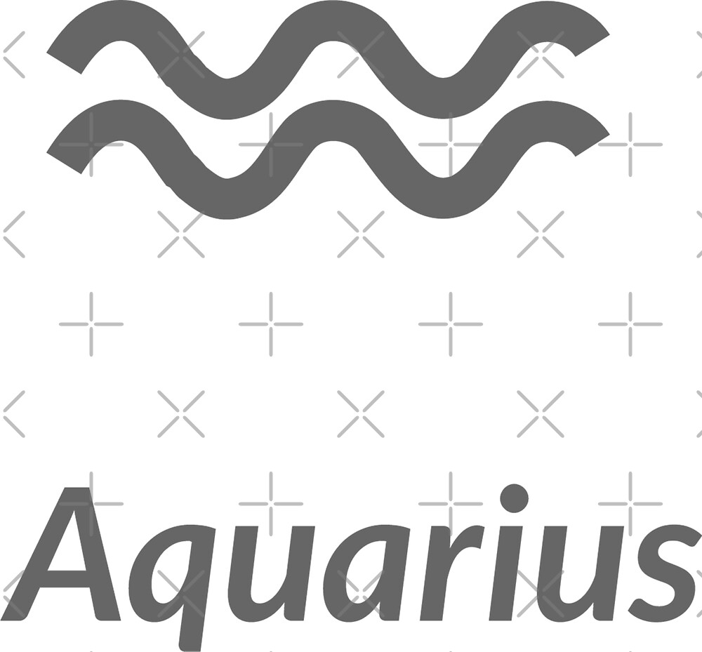 The Water-Bearer aquarius sing. Star constellation element. Age of aquarius constellation zodiac symbol on light white background. by asnia