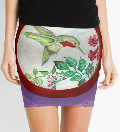 Humming Bird Circle Mini Skirt