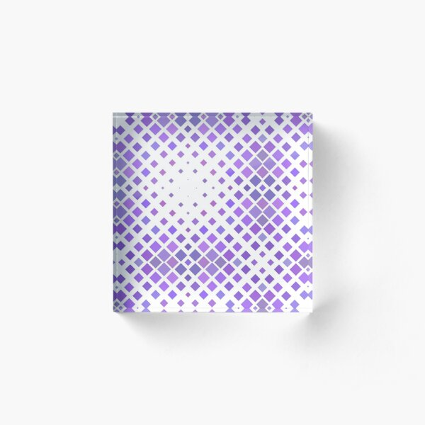 fabric repeating periodic abstract geometrical vector centered seamless colorful repeat pattern Acrylic Block