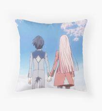 Hiro and Zero Two Throw Pillow