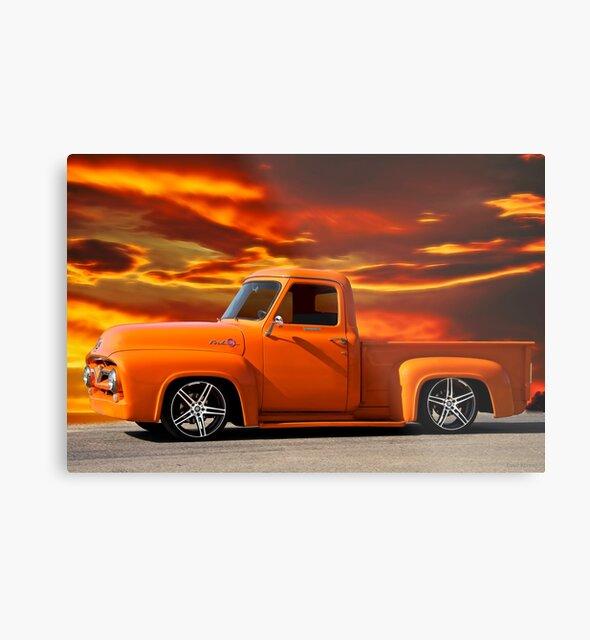 1955 Ford F100 Pickup 'Orange Kissed' II by DaveKoontz