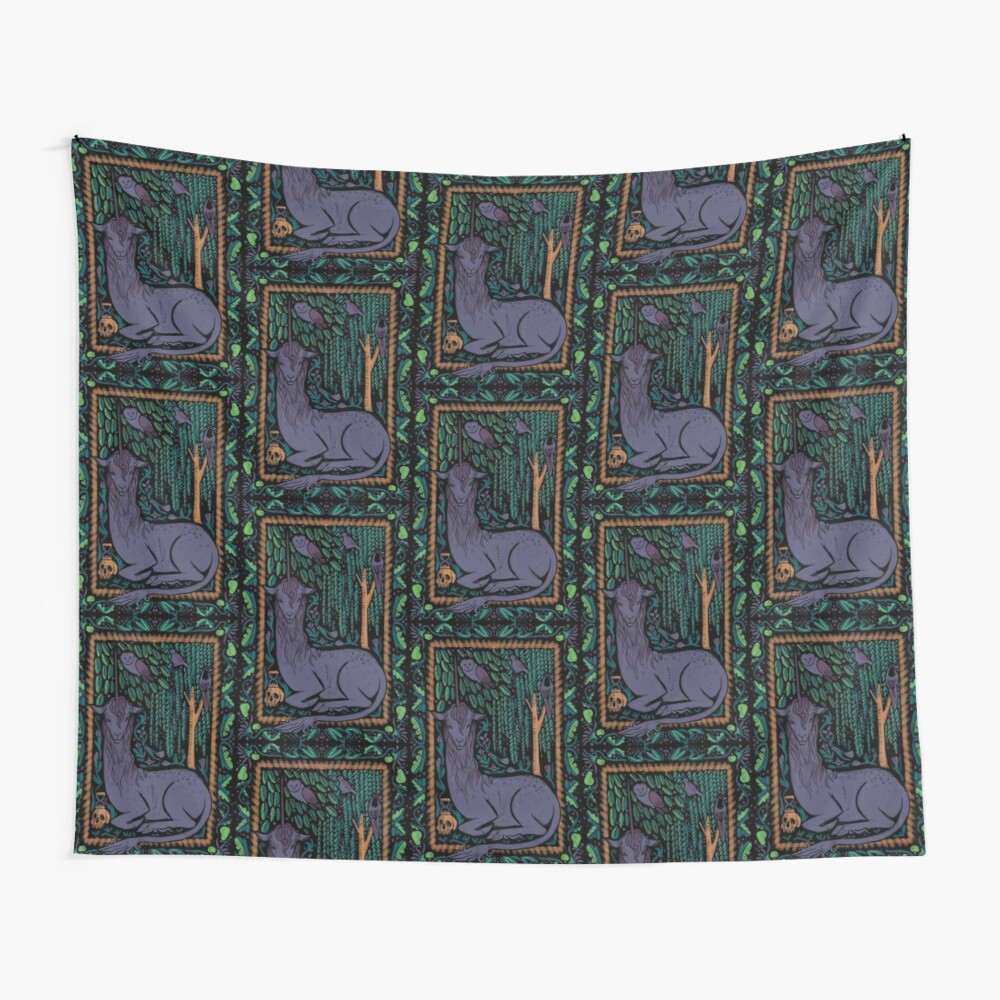 Medieval Unicorn Tapestry  Wall Tapestry