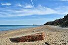 World War Two pillbox on the beach, Norfolk by Richard Flint