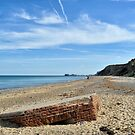 World War Two pillbox on the beach, Norfolk by Richard Flint