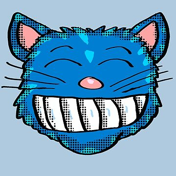 Big Grin Cat Head by Rajee