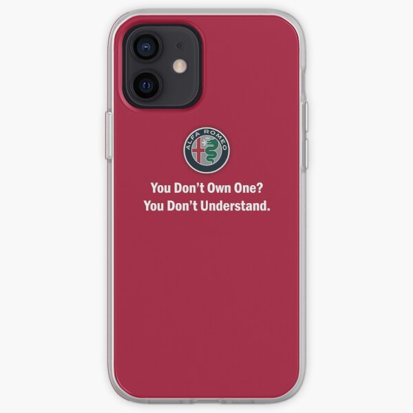 Alfa Romeo - Vous ne possédez pas un? - texte blanc Coque souple iPhone