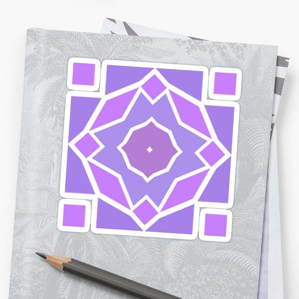 Pegatinas «plantilla de semitono geometría imprimir ornamento simple ...