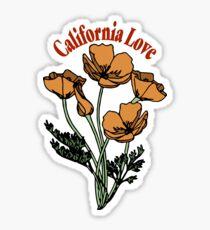 cali love poppies Sticker