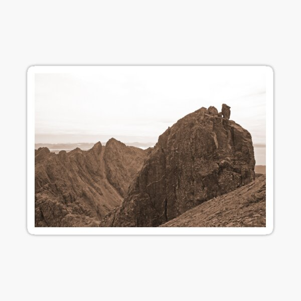 Sgurr Alasdair and the Inaccessible Pinnacle, Skye Sticker