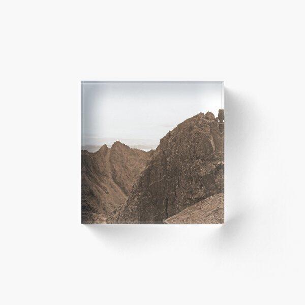 Sgurr Alasdair and the Inaccessible Pinnacle, Skye Acrylic Block