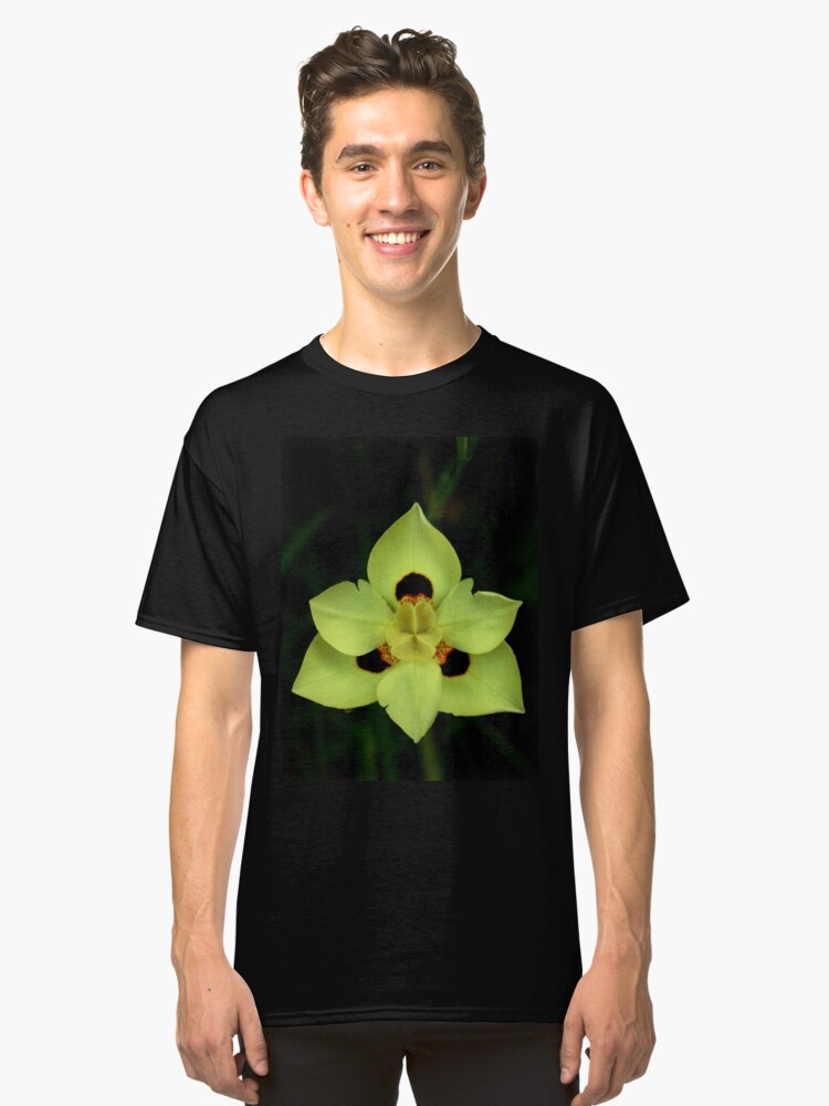 Alternate view of Yellow Dietes Flower from A Gardener's Notebook Classic T-Shirt