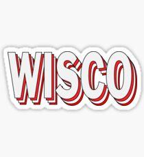 Wisco Stacked Sticker