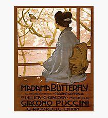 Weinleseplakat - Madama-Schmetterling Fotodruck