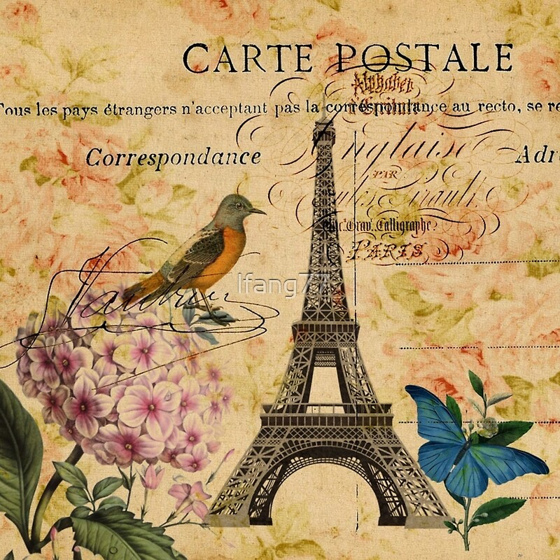 vintage eiffel tower floral bird butterfly fashion canvas prints by lfang77 redbubble. Black Bedroom Furniture Sets. Home Design Ideas