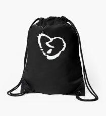 xxxtentacion broken heart symbol Drawstring Bag