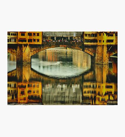 Ponte Vecchio Reflections Photographic Print