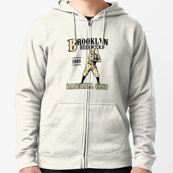 BROOKLYN BUSHWICKS BASEBALL Zipped Hoodie
