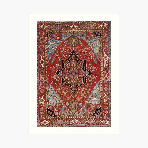 Heriz Persian Carpet Print Art Print