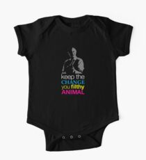 Allein zu Hause - Halten Sie die Änderung Sie dreckiges Tier Baby Body Kurzarm