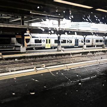 Rain On The Train Window by urbanfragments