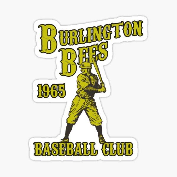 BURLINGTON BEES VINTAGE BASEBALL CLUB DEFUNCT Sticker