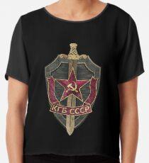KGB Vintage Emblem 01 Chiffon Top